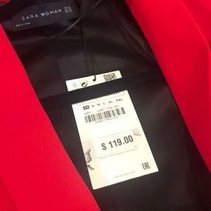 Zara Jackets & Coats - Longline Zara Red blazer brand new